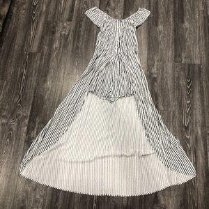 Dresses & Skirts - Off the shoulder romper - black and white stripes